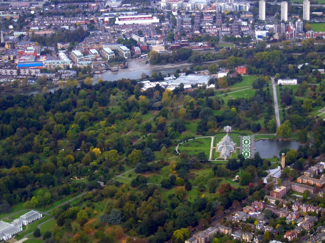 Royal Botanic Gardens from the air