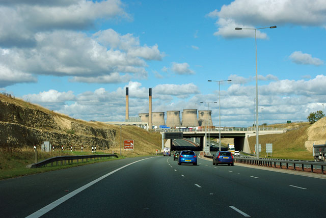 A1(M) - view towards Ferrybridge Power Station