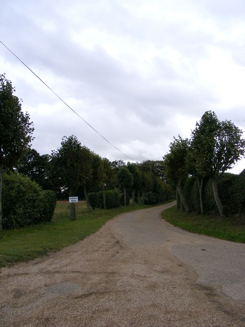 The entrance to Hall Farm