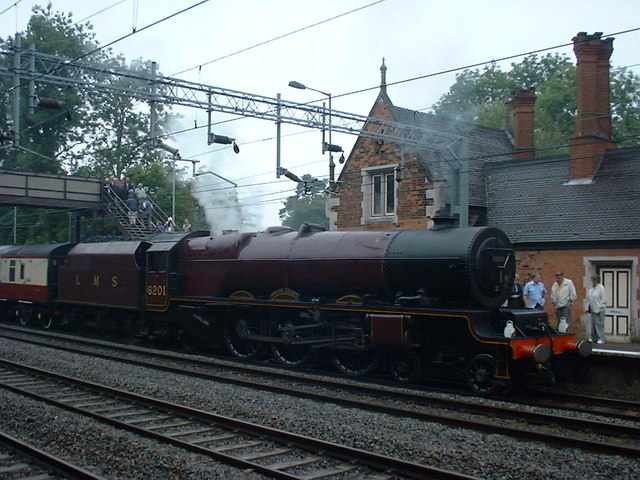 6201 Princess Elizabeth at Atherstone Station