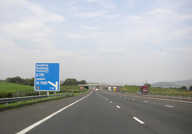 M74 approaching Beattock