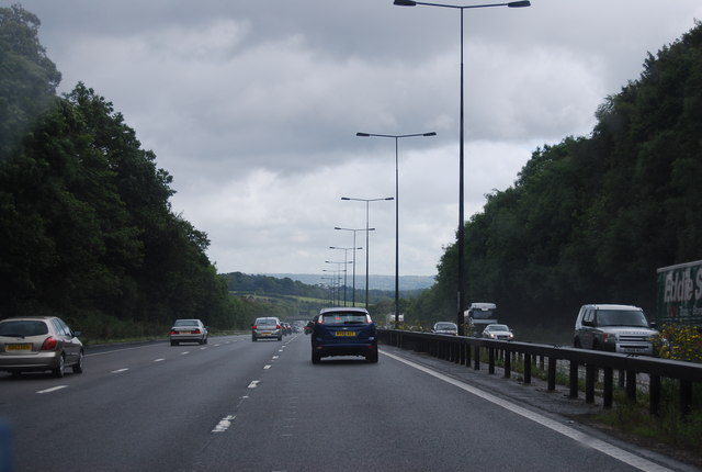 M6 east of Keele Services