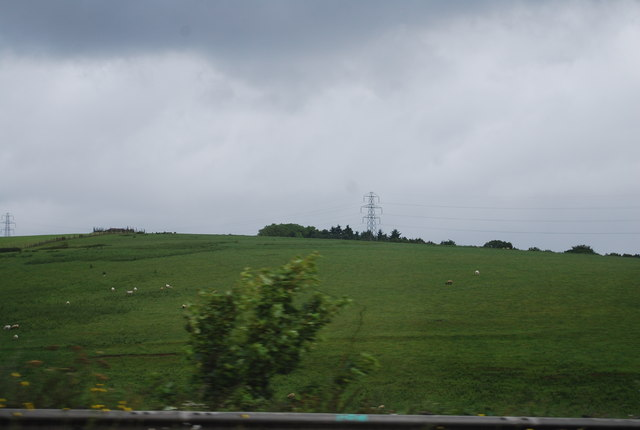 Farmland north of The Lymes