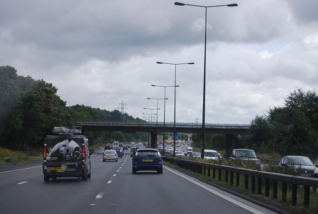A53 bridge over the M6