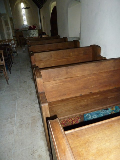 St Peter, East Lavington: side pews
