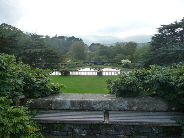 Part of the view over the Conwy Valley from Bodnant Gardens