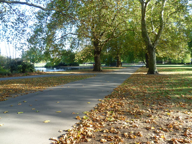 Part of the carriage drive in Southwark Park