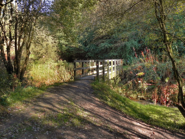 Wooden Bridge Over River Medlock David Dixon Geograph