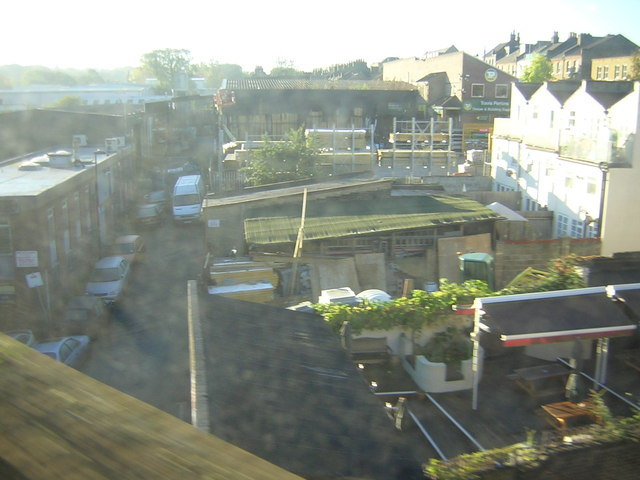 Industrial area near West Norwood Station, from the train