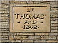 SD9504 : St Thomas'  Datestone by David Dixon