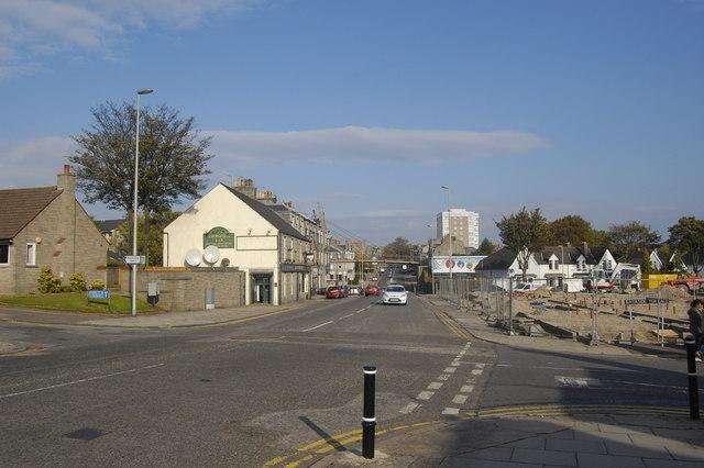 Streetview: Holburn Street, Aberdeen