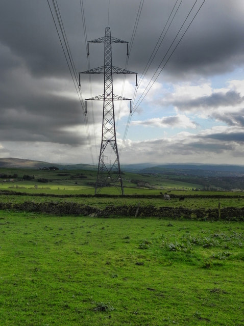 Pylons Across Hartshead Green