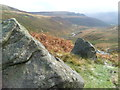 SE0600 : Rock Outcrop above Crowden Great Brook by Anthony Parkes