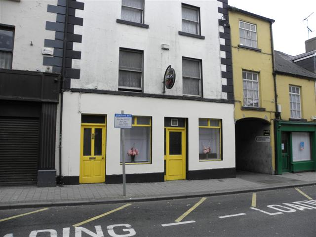 Pub with yellow doors, Monaghan