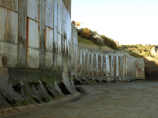 The Sea Wall at Robin Hoods Bay