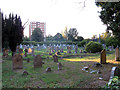 TQ4274 : St John's churchyard, Eltham by Stephen Craven