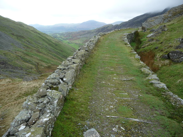 Old tram road incline remains above Cwm Croesor