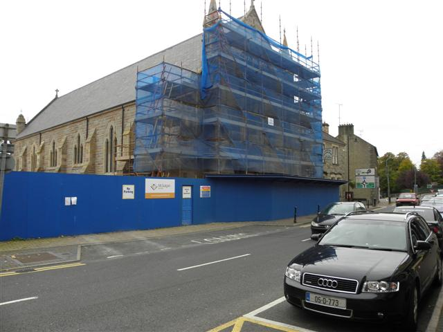 Church under renovation, Monaghan