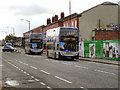 SJ8296 : Buses on Chester Road by David Dixon