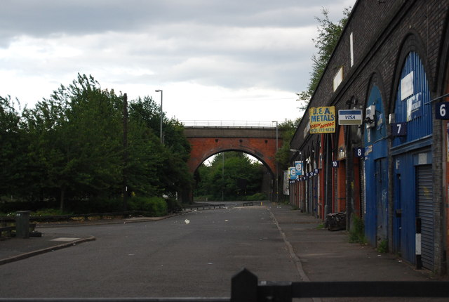 Railway bridge at the end of Lawden Rd