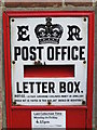 SP9433 : Edward VIII &quot;Ludlow&quot; postbox, Bedford Street - enamel plate by Mike Quinn