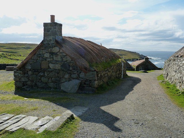 Gearrannan - Blackhouses towards the seaward end