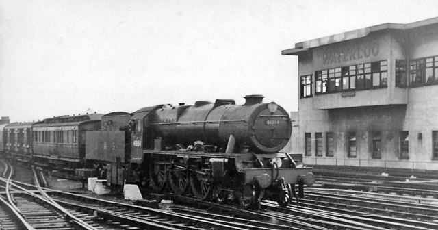 LMS Rebuilt 'Scot' 4-6-0 brings Atlantic Coast Express into Waterloo