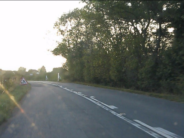 B4077 approaching Orchard Industrial Estate