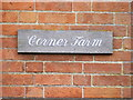 TM3072 : Corner Farm sign by Adrian Cable