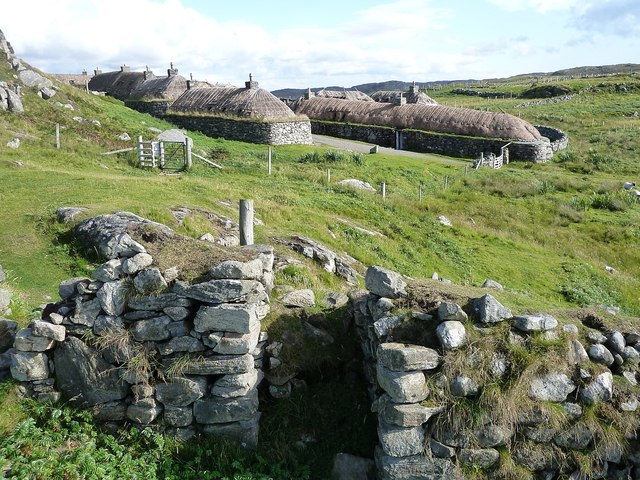 Gearrannan - View back to the village