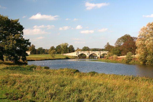 The Adam Bridge in Kedleston Park