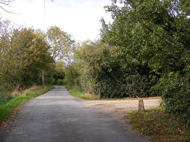 Swan Green Lane, Cratfield and the entrance to The Long House