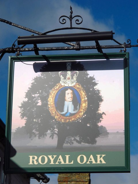 Sign for The Royal Oak, George Street