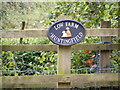 TM3274 : Low Farm, Huntingfield sign by Adrian Cable