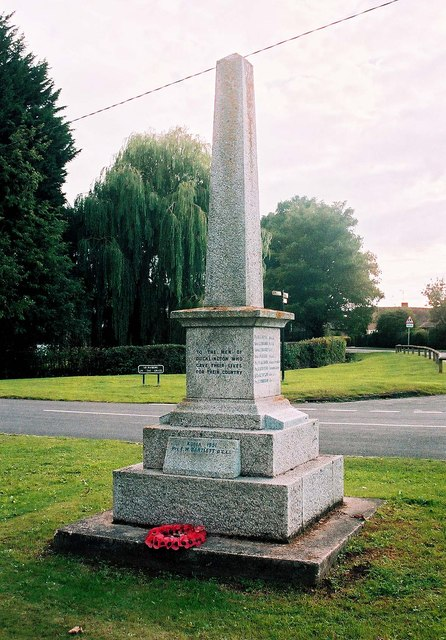 Ducklington Parish War Memorial - northeast side, Standlake Road, Ducklington