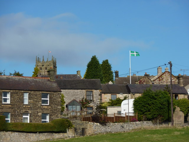 Flag of Devon spotted in Derbyshire village