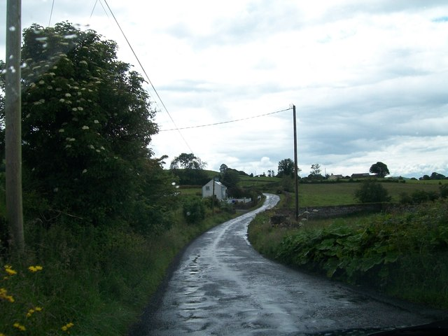 The potholed Loughcrew Road at Drumsawry