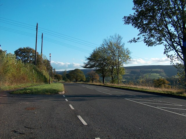 Looking south on Ashopton Road, Bamford