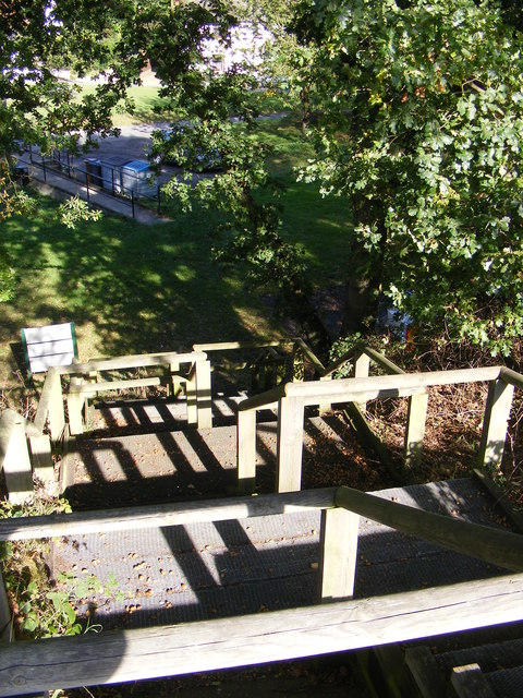 Huntingfield Millennium Green steps