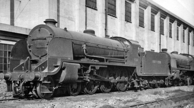 SR Maunsell 4-6-0 at Feltham Locomotive Depot