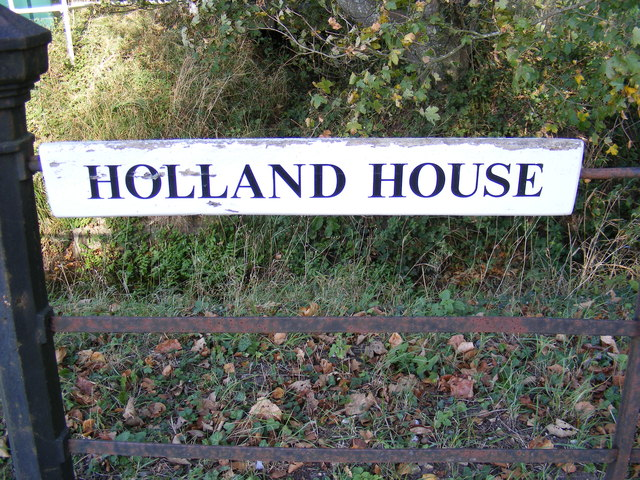 Holland House sign