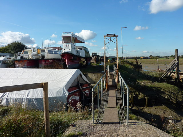 Footbridge to Iron Wharf, Faversham Creek
