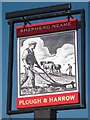 TR3050 : Plough and Harrow sign by Oast House Archive