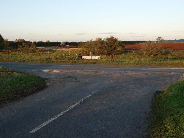 Junction B5288 Greystoke Pillar