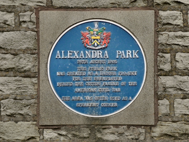 Alexandra Park: Blue Plaque