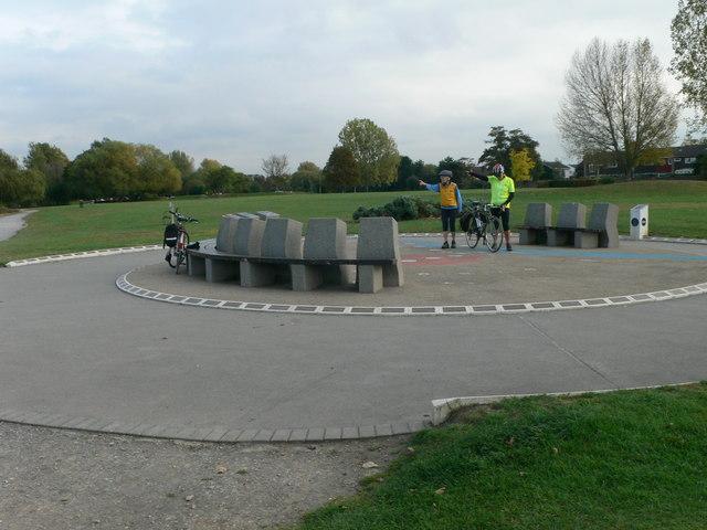 Heritage Marker at Hurst Park