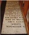 TQ6292 : St Nicholas, Ingrave - Ledger slab by John Salmon