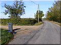 TM3376 : Linstead Road, Cookley Green & footpath to Bell Green by Adrian Cable