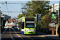 TQ3365 : Tram in Addiscombe Road, Croydon by Peter Trimming