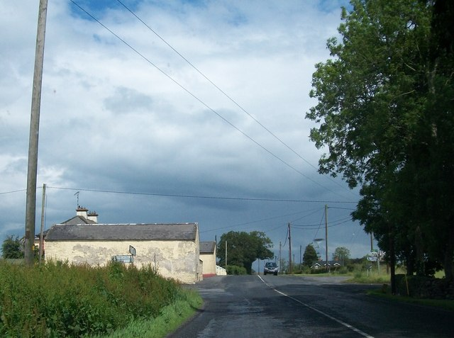 Farm outbuildings at Drumbaragh Cross Roads on the R163